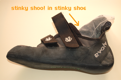 Stinky shoe inside a smelly shoe ,Shoes NOT included (only for illustration purposes)