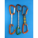2 x Metolius mini wire-gate 17.8 cm Brown/Green